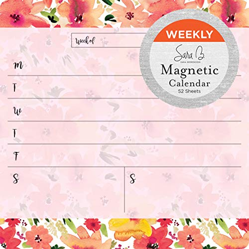 Calendar Perpetual Weekly (2019 Avalon Magnetic Weekly Calendar, Watercolor Florals by Sara B (80559))
