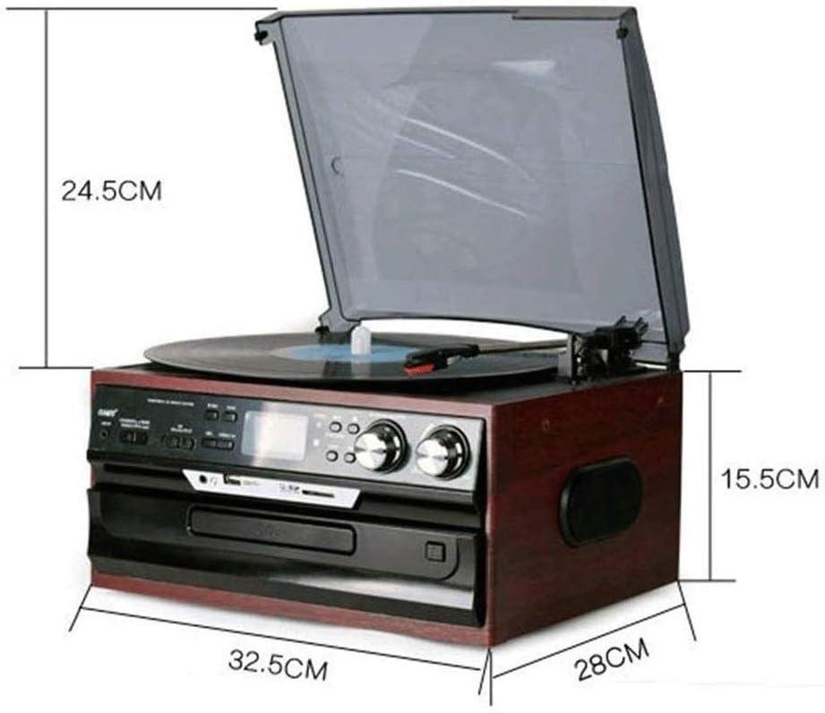 LMCLJJ Tocadiscos de la Placa giratoria, con el Cartucho de Audio ...