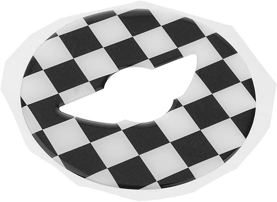 Shiwaki 3D Lenkrad Aufkleber Abdeckung F/ür Mini Kupfer F54 F55 F56 Grau und Wei/ß