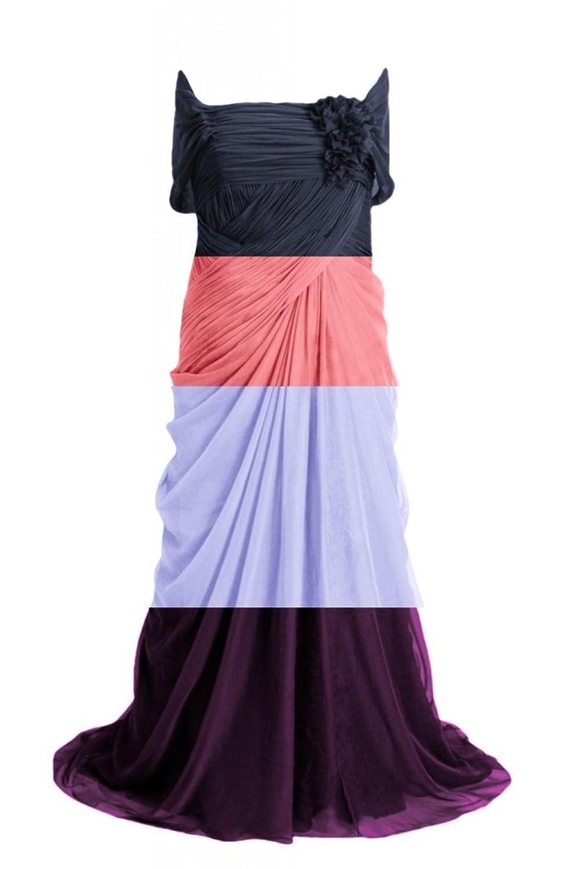 DaisyFormals Off-Shoulder Evening Dress Long Silky Chiffon Party Dress(PRC122)