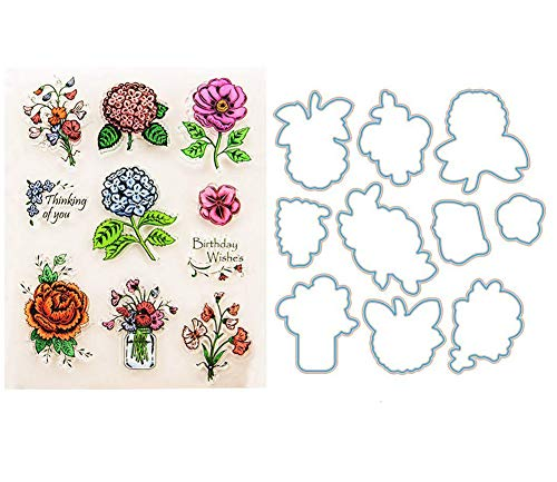 Stamp Dies Set Flower for Scrapbooking Card Making
