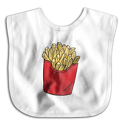 Unisex Baby Bandana Drool Bibs French Fries Cotton Neck Saliva Adjustable Towel Toddler For Girls (Toddler French Fry Costume)