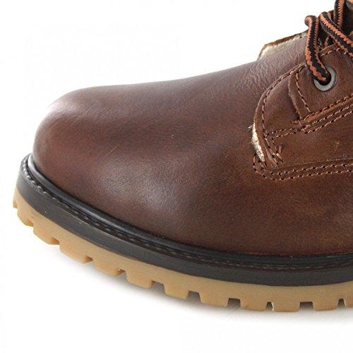 FB Fashion Boots Wrangler Aviator WM122785K Brier/Herren Schnürstiefel Braun/Fellstiefel/Gefütterter Herrenstiefel Brier