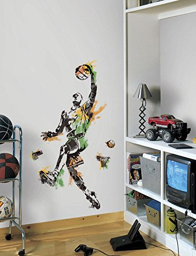 Men's Basketball Champion Peel and Stick Giant Wall Decal 18 x 40in