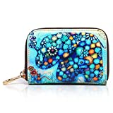 APHISON RFID Credit Card Holder Wallets for Women Leather Cartoon Patterns Zipper Card Case for Ladies Girls/Gift Box 001
