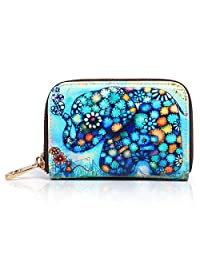 APHISON RFID Designer Bags Women's Leather Card Holder Clutch Wallets