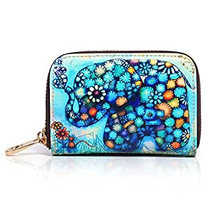 APHISON RFID Blocking Coin Pouch Purse Credit Card Case Holder Wallet With Zipper (001)