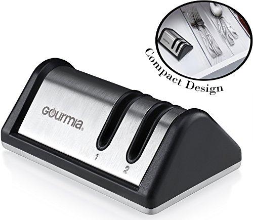 Gourmia Sharpener Stainless Portable Sharpening