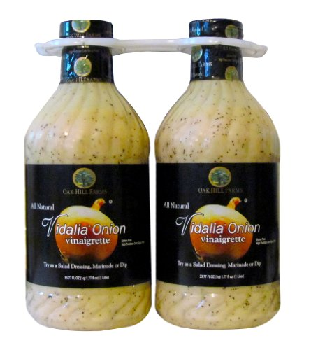 Oak Hill Farms All Natural Vidalia Onion vinaigrette, Twin Pack, 67.62-Ounce Dijon Vinaigrette Salad Dressing