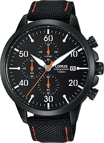 Lorus Reloj Cronógrafo para Hombre de Cuarzo con Correa en Cuero RM347EX9: Amazon.es: Relojes