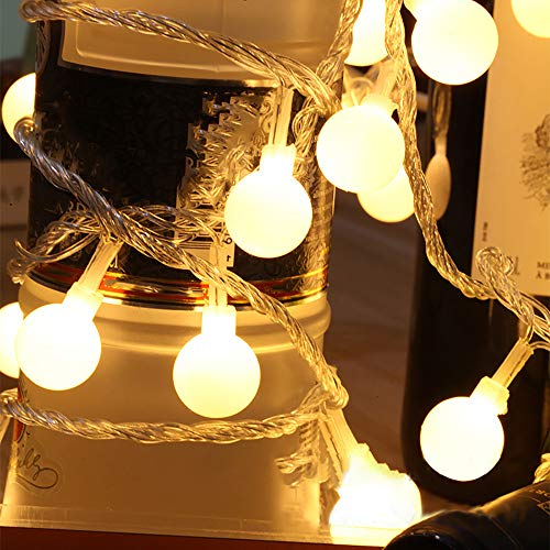 ASERTYL Fairy LED String Lights Christmas Round Ball Blubs Wedding Party Lamp Christmas Decorations Ornaments Set Christmas LED Light