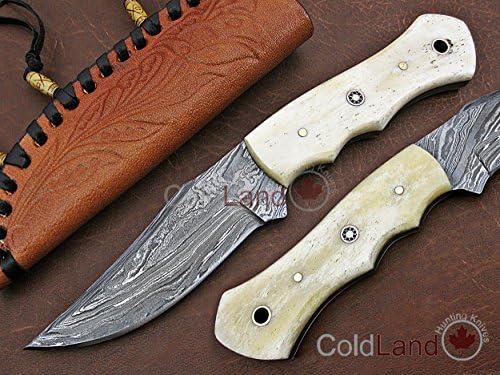 ColdLand TH03-3 - Cuchillo de Caza de Acero de Damasco de 20 ...