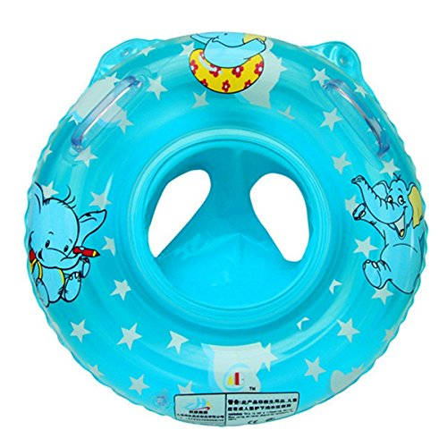Baby Kids Toddler Infant Swim Float Baby Inflatable Swimming Float Ring Swim Seat Boat for Baby Blue
