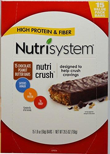 Nutrisystem Chocolate Peanut Butter Bar 15 1.8 oz bars