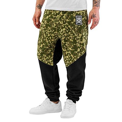 Dangerous DNGRS Hombres Pantalones / Pantalón deportivo Spandau camuflaje