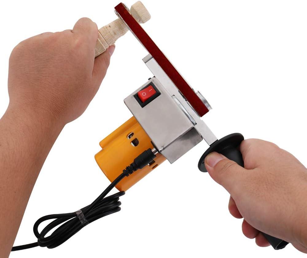 KKmoon Handheld Belt Sander Mini Sanding Machine Angle Grinder Polishing Machine DIY Tool