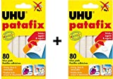 UHU Patafix Glue Pad Removable Reusable White 80 pads (2xPack)