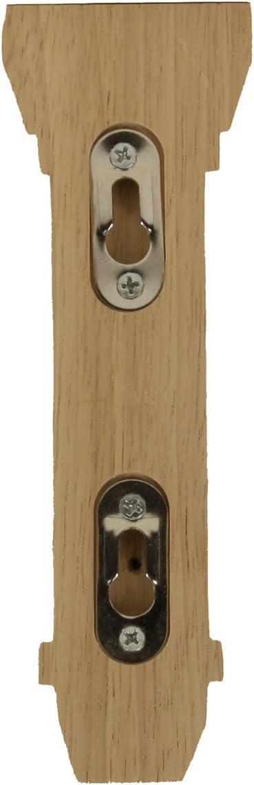 , 4-Pack Red Oak Ekena Millwork BKT02X05X07STRO-CASE-4 2 1//4 inch W x 5 inch D x 7 inch H Stockport Bracket