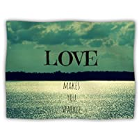 "Kess InHouse Robin Dickinson ""Love Makes You Sparkle"" Pet Dog Blanket, 40 by 30-Inch"
