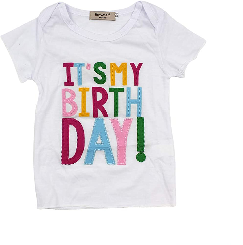 Colorful Tutu Skirt AIBEARTY Little Girl 2PCS Clothes Set Short Sleeve T-Shirt