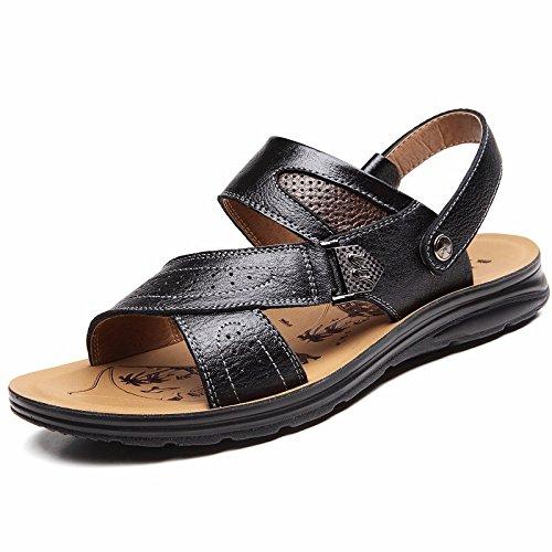 estate vera pelle sandali Uomini Spiaggia scarpa Uomini sandali Uomini scarpa traspirante Tempo libero scarpa Uomini tendenza ,neroB,US=7,UK=6.5,EU=40,CN=40