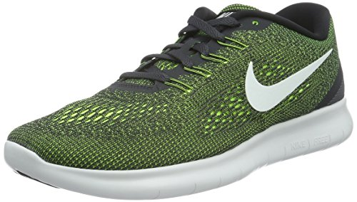 Nike Mens Free Rn Scarpa Da Corsa Antracite / Bianco / Volt / Bianco Taglia 10h M Us