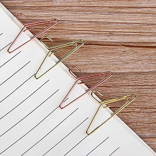 Dorado Milopon Clips Fantas/ía de Metal Pinzas Papel Forma de Percha Creativa decoraci/ón Accesorios para ni/ño Escolar Oficina 12pcs 3.7x1.9cm