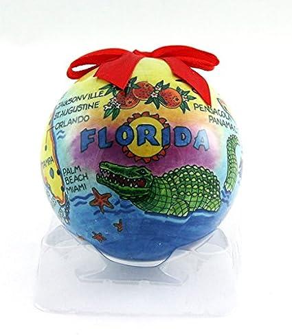 Amazon.com: Souvenir Destiny Florida Map Christmas Ball Ornament