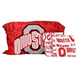 The Northwest Company NCAA Anthem Twin Pillowcase and Sheet Set (Ohio State Buckeyes)