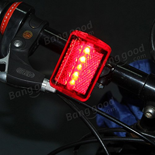 5 LED bike tail light bicycle red flash light rear lamp 7 mode by Freelance Shop SportingGoods (Image #2)
