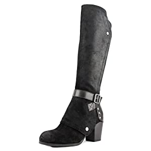 Fergie Lilith Women Black Knee High Boot
