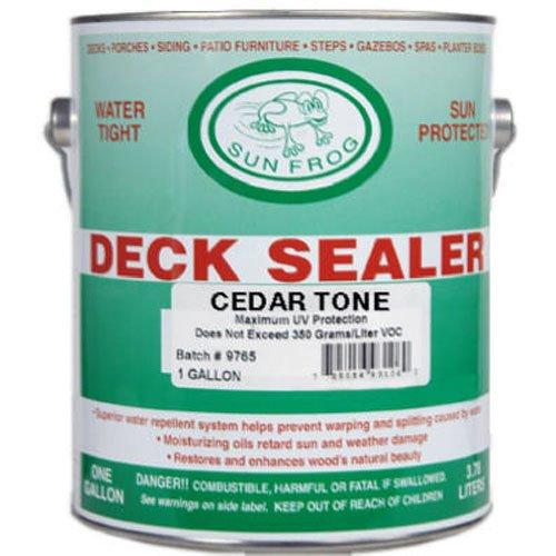 Sun Frog Deck Sealer GallonCedar (Tone Frog)