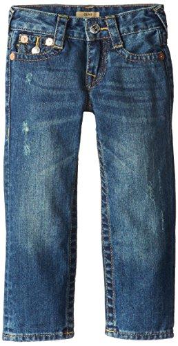 True Religion Little Boys' Geno Relaxed Slim Classic 5 Pocket Jean, Crown Blue, 4