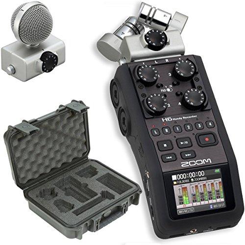 Zoom H6 Recorder & SKB 3i-1209-4-H6B Waterproof Broadcast Kit Hard Case - Bundle by Zoom