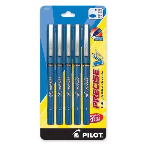 - Pilot Corporation 26021 Roller Ball Pen, Nonrefillable, Fine Point, 5/PK, Blue