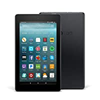 """Certified Refurbished Fire 7 Tablet with Alexa, 7"""" Display, 8 GB, Black - with Special Offers"""