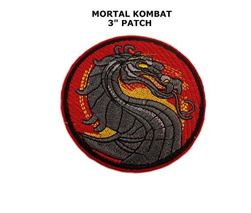 Mortal Kombat Logo Iron or Sew-on Patch (Mortal Kombat Cartoons)