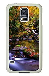 White Fashion Case for Samsung Galaxy S5,PC Case Cover for Samsung Galaxy S5 with Landscape Painting