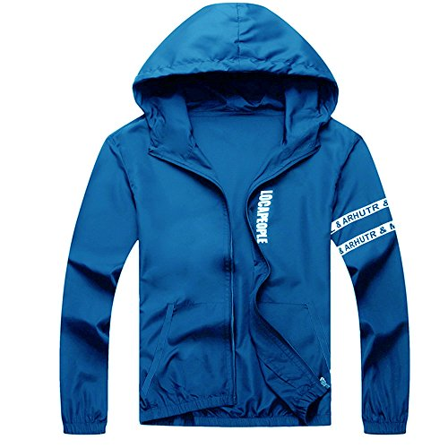 Amcupider Big Boys Hooded Jacket Lightweight Windbreaker X-Large Royal Blue by Amcupider