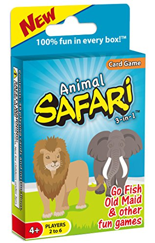 Animal Safari 3-in-1: GO FISH and Old Maid Card Game ()
