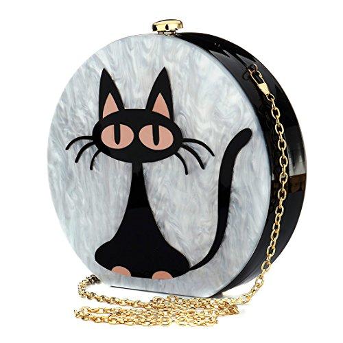 HT Acrylic Clutch Bag, Poschette giorno donna Acrylic