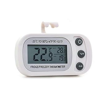 PINH - Termómetro digital impermeable para frigorífico, pantalla ...