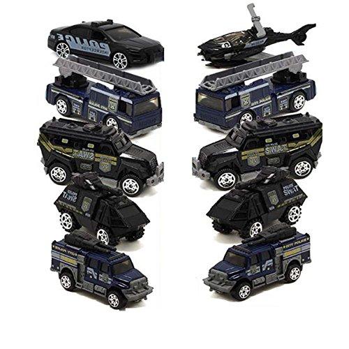 Hornet Park 警察車スーツ 子供用 おもちゃの車モデル 子供用ギフト 5個セット (ランダムミックス発送)