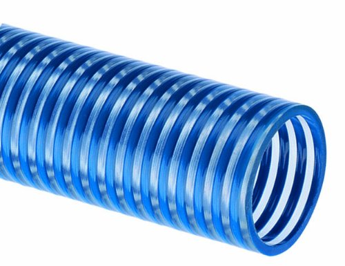Tigerflex Blue Water BW Series PVC Low Temperature Suction Hose, 90 PSI Max Pressure, 1 inches ID, 100 feet Length by Tigerflex
