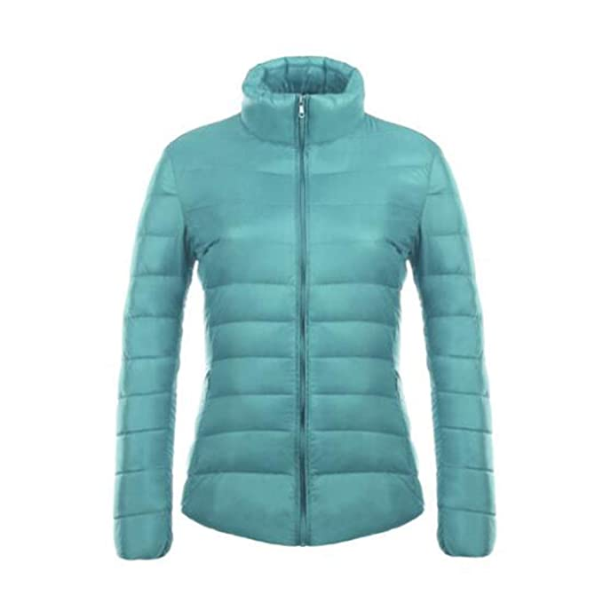 Fangcheng Mujer Stand Collar Slim Short Ultra Light Down Chaquetas Mujer Wear Coat Parkas Plus Tamaño