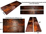 Cocobolo boards set #13, 68 inches long x 12 inches wide x 1.125 inches thick
