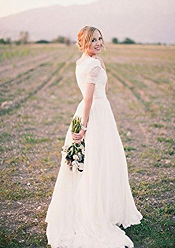 Bohemian Bridal Wedding Wedding Ivory Gowns Peachess Boho 2017 The Sleeves Dresses Five Long tIwqY4y