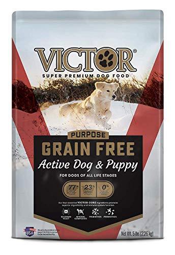 VICTOR Purpose - Grain Free Active Dog & Puppy, Dry Dog Food 5 lbs