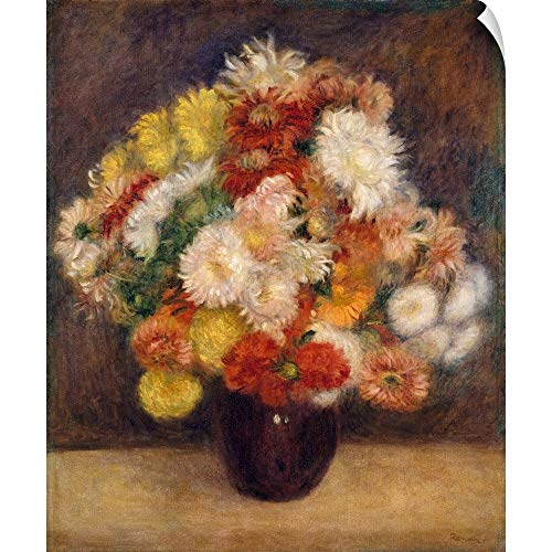 CANVAS ON DEMAND Pierre Auguste (1841-1919) Renoir Wall Peel Wall Art Print Entitled Bouquet of Chrysanthemums 20