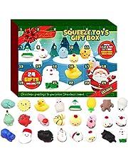 SODAl 2020 Kerst Countdown voor kinderen en volwassenen adventskalender voor meisjes en jongens, 24 cartoon mini decompressie poppen Pokemon, geschikt voor verjaardagscadeaus voor kinderen